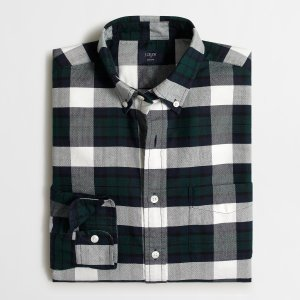 Slim Plaid Oxford Shirt : Men's Oxford | J.Crew Factory