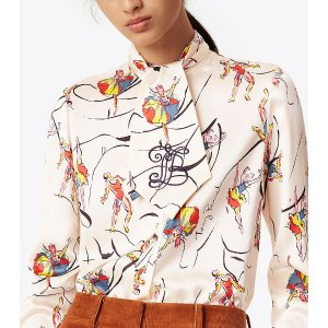 Tory Burch Vance Bow Blouse