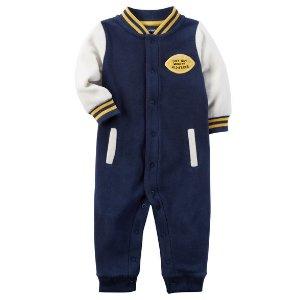Fleece Varsity Jumpsuit