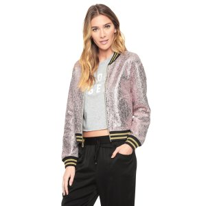 REVERSIBLE METALLIC CRACKLED JACKET - Juicy Couture