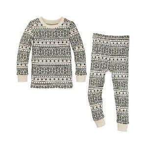 Kids Fair Isle Organic Cotton Pajamas