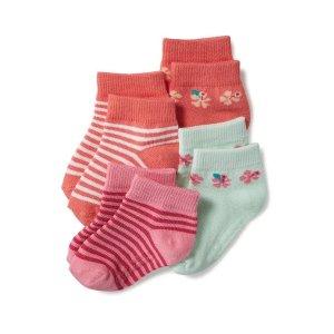 Non-Skid Ankle Socks 4-Pack for Toddler & Baby
