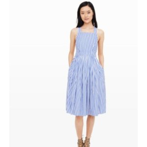 MDS Stripes Open-Back Dress