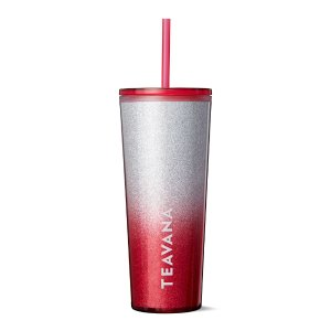 Red Glitter Cold Cup