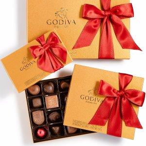 低至7折+送礼卡Godiva 节日糖果礼盒特卖