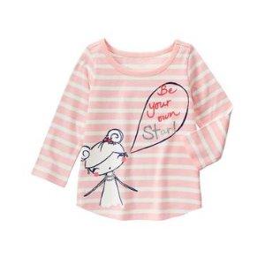 Toddler Girls Princess Pink Stripe Star Stripe Tee by Gymboree