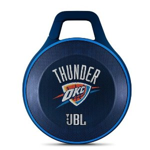JBL Clip NBA Edition - Thunder | Oklahoma City Thunder Ultra-portable Bluetooth Speaker with Carabiner