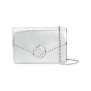 Fendi - Silver Kan I F Shoulder Bag | Kirna Zabete