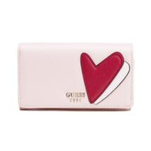 Guess Women's Pinup Pop Flap Organizer Purse - Cameo