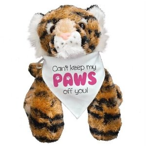 Can't Keep My Paws Off You Stuffed Tiger - 12