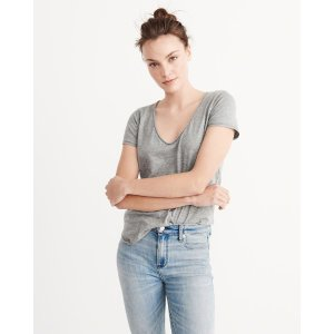 Womens Relaxed V-Neck Tee上衣