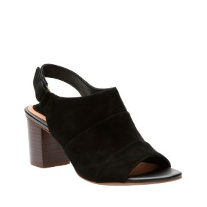 Ralene Shine Black Suede - Women's Heels - Clarks® Shoes Official Site
