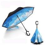 Pococina 双层印花C把手雨伞