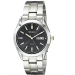 Seiko Men's SNE047 Two-Tone Solar Black Dial Watch