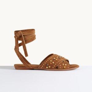 FEMINY Flat sandals with studs - Shoes - Maje.com