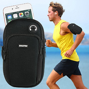 IPHONE 7PLUS Armband, RISEPRO Neoprene Case Dry Bag Pouch for Jogging Outdoor Sports Climbing Running, for IPHONE 7, 7S, 6, 6S 6plus, 5, 5s Samsung Galaxy Note 5 S5, Google Nexus 6P (NB1711-BK)