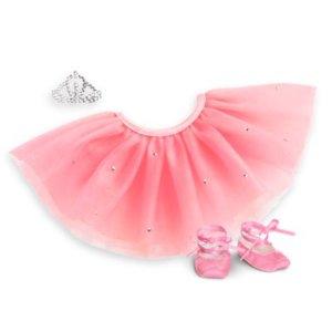 Pretty Pink Tutu Set for 18-inch Dolls