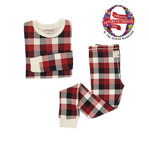 Big Kids Buffalo Plaid Organic Cotton Pajamas