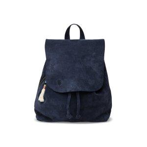 Deep Ocean Suede Embroidered Poet Backpack | TOMS®