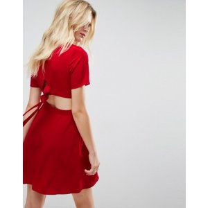 ASOS Mini Tea Dress with Open Back