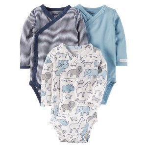Baby Boy 3-Pack Side-Snap Bodysuits | Carters.com
