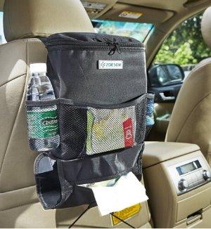 Car Seat Back Organizer, Multi-Pocket Travel Storage Bag Picnic bag (Heat-Preservation)