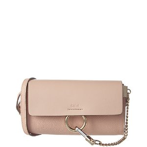 Chloé Faye Leather Wallet on Chain