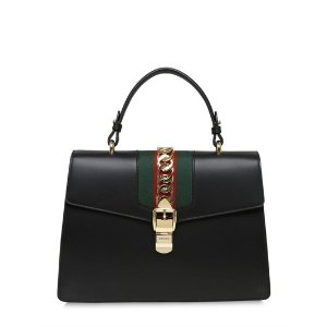 GUCCI - MEDIUM SYLVIE LEATHER TOP HANDLE BAG