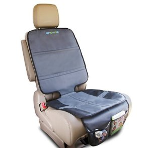 Enovoe Car Seat Protector - Universal Auto Seat Protector Cover Helps Keep Your Infant, Baby, Toddler and Kids Car Seat in Place While Protecting Your Upholstery