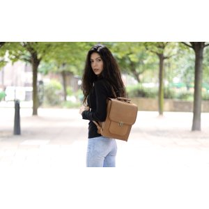 Simple and Classic Leather Backpack by Beara Beara