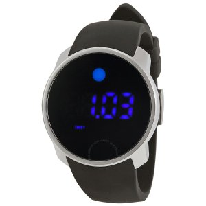 Bold Digital Touch Screen Dual-Time Stainless Steel Men's Watch