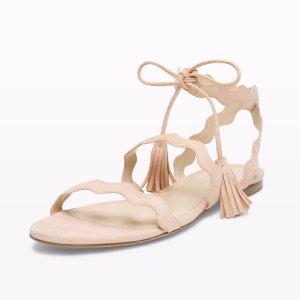 裸粉色女式凉鞋