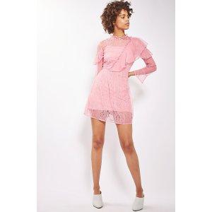 Topshop Ruffle Lace Minidress | Nordstrom