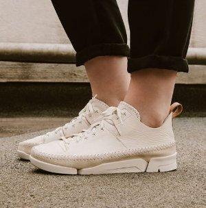 $136 ($160)Clarks Trigenic Flex Leather Sneakers Men's Shoes White