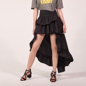 Asymmetrical Skirt With Ruffles - Skirts - Sandro-paris.com