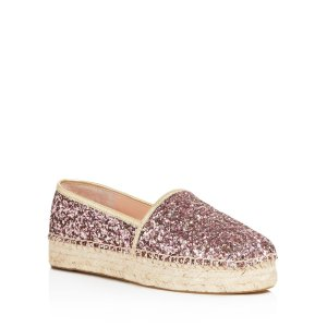 kate spade new york Linds Too Glitter Platform Espadrilles | Bloomingdale's