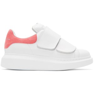 Alexander McQueen: White Straps Oversized Sneakers