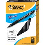BIC Gel-ocity Retractable Gel Pen, Medium Point (0.7 mm), Black, 24-Count