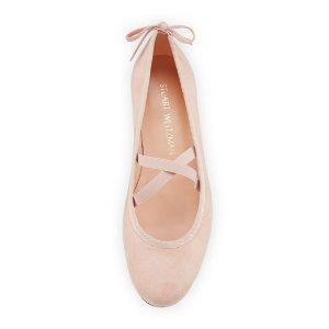 Stuart Weitzman Bolshoi Suede Ballerina Flat