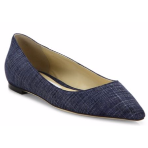 Jimmy Choo - Romy Denim Point Toe Flats - saks.com
