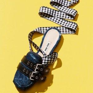 低至5折 女式凉鞋$295起Miu Miu 美鞋美衣多款促销