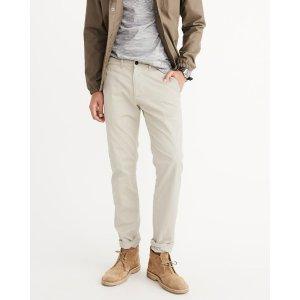 男士休闲修身长裤