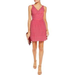 Riposte broderie anglaise cotton-blend mini dress | Maje