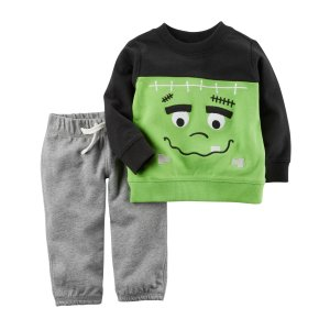 2-Piece French Terry Halloween Top & Pant Set