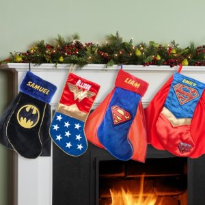 Personalized Superman, Supergirl, Batman or Wonder Woman Christmas Stocking - Walmart.com