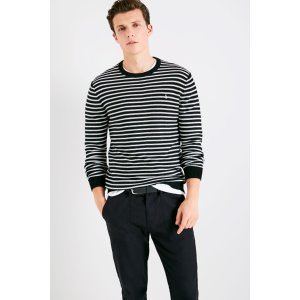 CHACKMORE STRIPE CREW NECK SWEATER