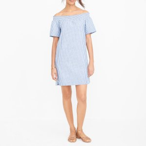 Striped off-the-shoulder dress : FactoryWomen Casual | Factory
