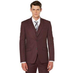 Slim Fit Solid Sateen Suit Jacket