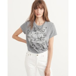 Womens Graphic Band Tee | Womens Tops Sale | Abercrombie.com