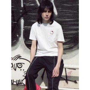STEREO VINYLS Hello Kitty Pocket SS T-shirts-White